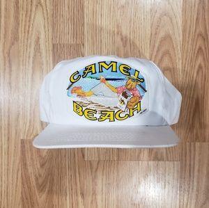 Vintage Camel Cigarettes White Snapback Hat